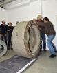 Alfred Ulrich und Uli Hochmann beginnen mit dem Drucken (Foto: Claudia Hassel)