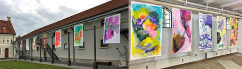 Fotocollage Vera Greif Kunst Unterwegs auf dem Klostergelände